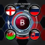 Le drapeau européen boutonne B Image stock