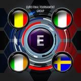 Le drapeau européen boutonne E Photographie stock