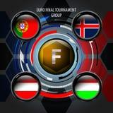 Le drapeau européen boutonne F Photographie stock