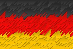Le drapeau national de l'Allemagne Photos stock