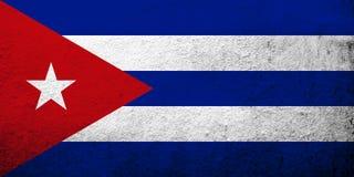 Le drapeau national de la république de Cuba Fond grunge illustration de vecteur