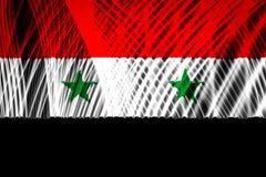 Le drapeau national de la Syrie illustration stock