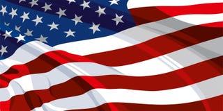 Le drapeau national des Etats-Unis illustration de vecteur