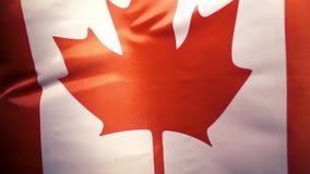 Le drapeau national du Canada balance dans le vent, MOIS lent banque de vidéos