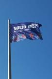Le drapeau olympique photo stock