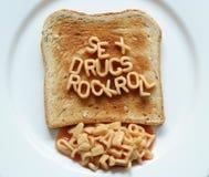 Le droghe del sesso oscillano il pane tostato del rullo Immagini Stock