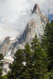 Le Dru. Peak of Le Dru in Chamonix, Haute Savoie, France Stock Images