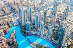 Le Dubaï du centre Photo stock