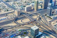 Le Dubaï du centre Images stock