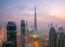 Le Dubaï du centre Photographie stock libre de droits