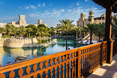 LE DUBAÏ, EAU - 15 NOVEMBRE : La vue du Souk Madinat Jumeirah Photographie stock libre de droits