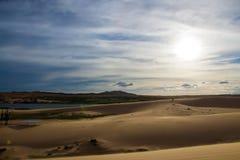 Le dune di sabbia bianche Immagine Stock Libera da Diritti