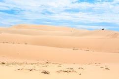 Le dune di sabbia bianche di Mui Ne Fotografie Stock Libere da Diritti
