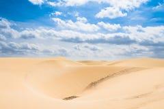 Le dune di sabbia a Viana abbandonano - Deserto de Viana in Boavista - il capo Fotografie Stock Libere da Diritti