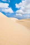 Le dune di sabbia a Viana abbandonano - Deserto de Viana in Boavista - il capo Fotografia Stock Libera da Diritti