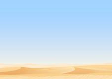 Le dune vuote del deserto del cielo vector il fondo egiziano del paesaggio Sabbia nell'illustrazione della natura Immagini Stock
