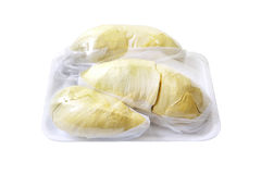 Durian (durian thaïlandais de Monthong) en paquet, d'isolement avec des chemins de coupure Photo stock