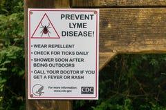 Le ` empêchent le signe et les conseils de ` de la maladie de Lyme image libre de droits