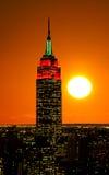 Le Empire State Building e Manhattan Immagini Stock Libere da Diritti
