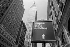 Le Empire State Building a New York City Fotografie Stock Libere da Diritti