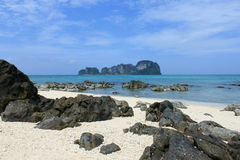 Île en bambou Photographie stock libre de droits
