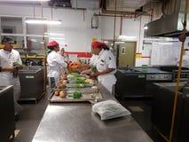 le 1er septembre 2016, Shah Alam Licencié en session pratique culinaire d'Art Student Photo libre de droits