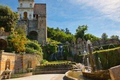 Le ` Este de la villa D de fontaines de Rometta image libre de droits