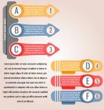 Le etichette e le etichette colorate, freccia gradiscono Può essere usato per infographic illustrazione vettoriale