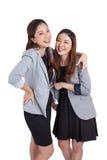 Le för affärskvinnor för stående härligt royaltyfri foto