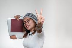 Le för Asien kvinna Fotografering för Bildbyråer