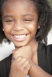 le för barnheadshot Fotografering för Bildbyråer