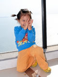 le för barnkines Arkivbild