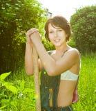 le för bonde arkivfoto