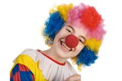 le för clown Arkivbild