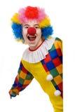 le för clown Arkivfoton