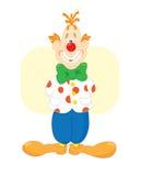 le för clownred Arkivfoton