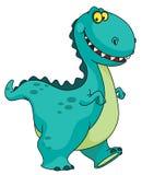 le för dinosaur Arkivfoton