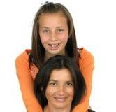 le för dottermoder Arkivfoton