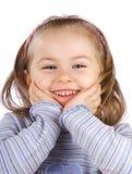 le för flicka Royaltyfri Bild