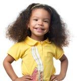 Le för flicka för gullig afrikansk amerikan litet Royaltyfri Fotografi