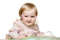 le för flickaexponeringsglas Fotografering för Bildbyråer
