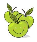 le för illustration för äpplen grönt Royaltyfri Fotografi
