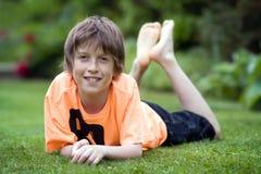le för pojke Royaltyfri Foto