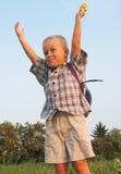 le för pojkeförträning Royaltyfri Foto