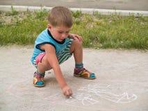 le för pojketeckning Royaltyfri Bild
