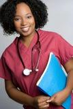 le för sjuksköterska royaltyfri foto