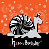 Le för snigel för lycklig födelsedag vektor illustrationer