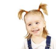 le för stående för barn lyckligt royaltyfria bilder