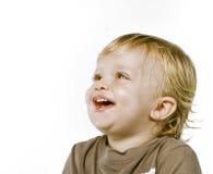 le för stående för pojke lyckligt fotografering för bildbyråer