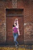 le för stående för flicka lyckligt Royaltyfri Foto